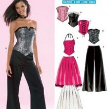 Patron ensemble bustier jupe et pantalon new look