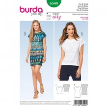 Patron Burda 6540 top et robe